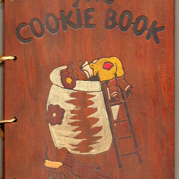 "1936 - ""The Cookie Book"" (Wooden Covers) - Books"