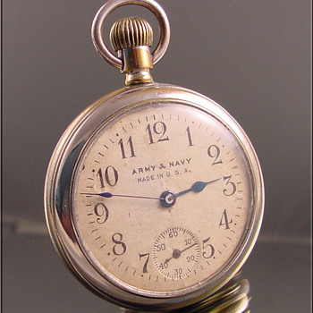 Army Navy Dollar Pocket Watch