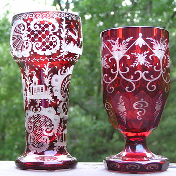 Egermann Bohemian Ruby Red Glass - Glassware
