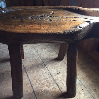 primitive table or farm equipment
