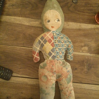 1930's stuffed printed doll