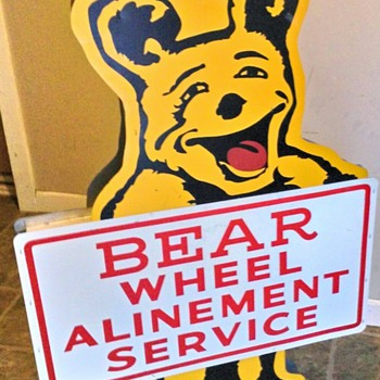 Bear Alinement double sided sign - Petroliana