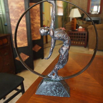 """Exposition of Strength"" Bronze and Iron 1920's  - Art Deco"