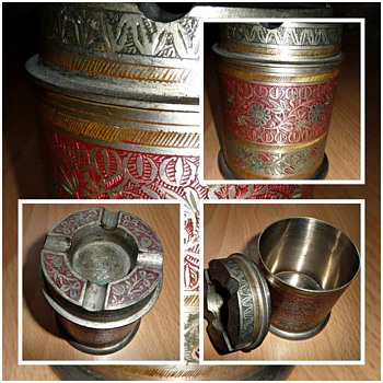 1930's india made ashtray/cigarette box