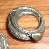 Tortolani snake wrap clip hoop earrings