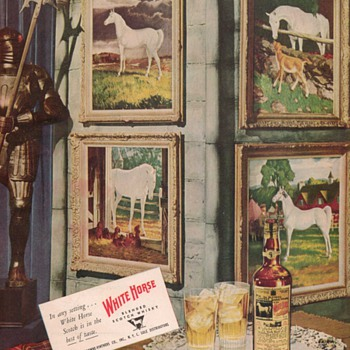 1950 White Horse Scotch Whisky Advertisement - Advertising