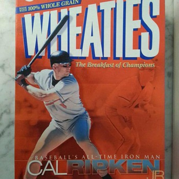 Baltimore Orioles - Baseball's All-Time Iron Man Cal Ripken Jr. Wheaties Cereal Box