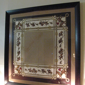 VINTAGE RALPH LAUREN SCRAF FRAMED AND MATTED C. MID 1970S-TO EARLY 1980S