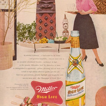 1954 Miller Beer Advertisement - Advertising