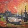 Vintage Venice at Sunset Print by Tramontane Bouvier de Cachard