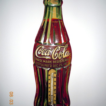 1930&#039;s Coca-Cola Bottle Thermometer
