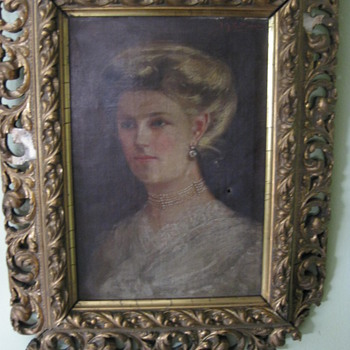 Original Victorian Oil Painting Portrait