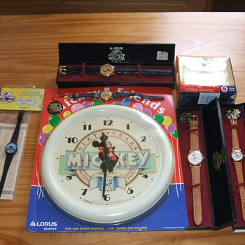 1988 60th Birthday Mickey Timepieces - Wristwatches