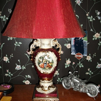French antique bedroom table lamps