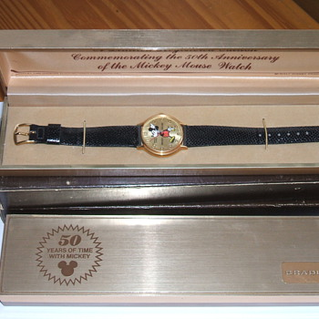 1983 50th Anniversary Mickey Wristwatch