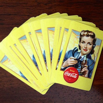 1943 Coca Cola Playing Cards - Coca-Cola