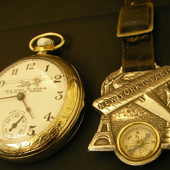 "Charles Lindbergh - ""New York to Paris"" Pocket Watch Fob - Pocket Watches"
