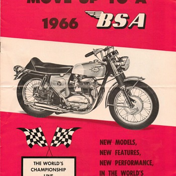 1966 B.S.A. Motorcycles Product Line Brochure