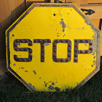 Red Marbles Stop Sign - Signs