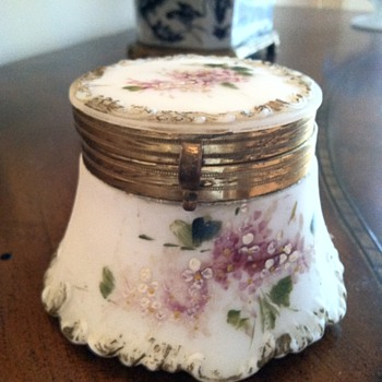 Victorian Milk Glass Hinged Box