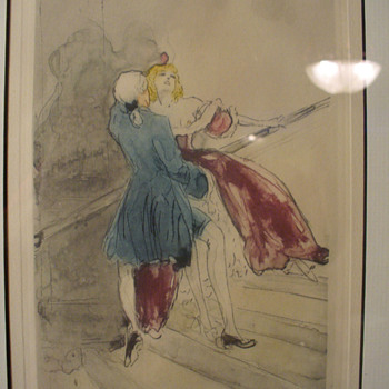 Louis Icart aquatint etching...