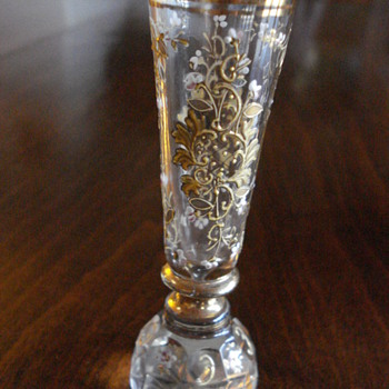 Posy bud vase or holder Bohemian  - Art Glass