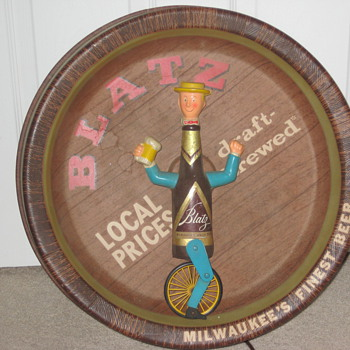 My Blatz &quot; Bottleman Unicycle - Signs