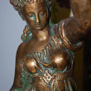 Who made this? Any value? Goddess plaster lamp