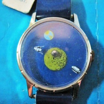"AstroTime ""Mystery"" Dial Lunar Theme Wristwatch - Wristwatches"