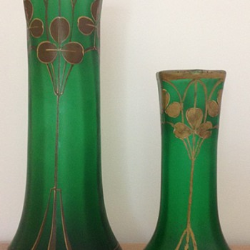"a big and a smaller one ""Fontainebleau"" vase of Legras - Art Nouveau"