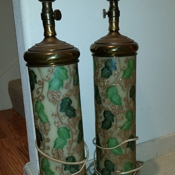 Vintage hand-painted lamps