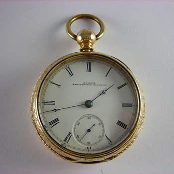 Scarce 1st Year Production 2nd Run Illinois Bunn - Pocket Watches
