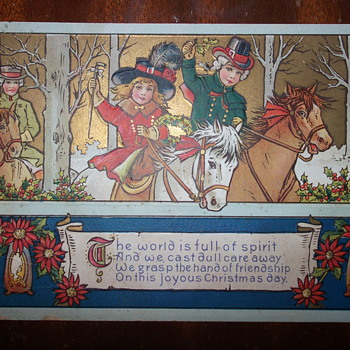 Old Christmas Postcard from 1917 - Postcards