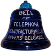 Bell Telephone Manufacturing Co. Glass Bell Paperweight