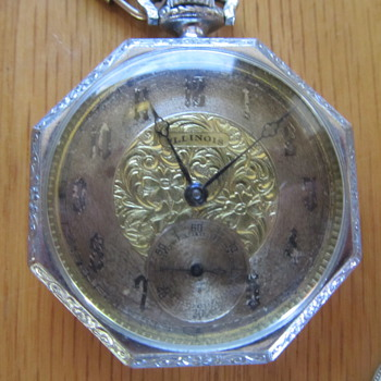 Antique Octigon Illinois Railroad Watch (1900+-) - Pocket Watches
