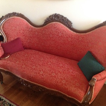 Victorian sofa with matching chairs - Victorian Era
