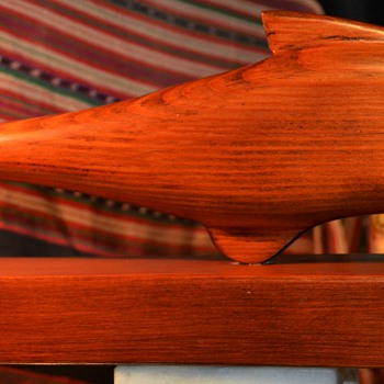 Wooden Fish Carving by Grant D. Devore - Folk Art