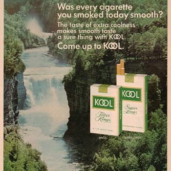 1976 - KOOL Cigarettes Advertisement