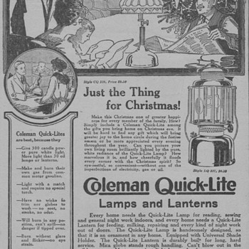 1919 - Coleman Lantern Advertisement - Advertising