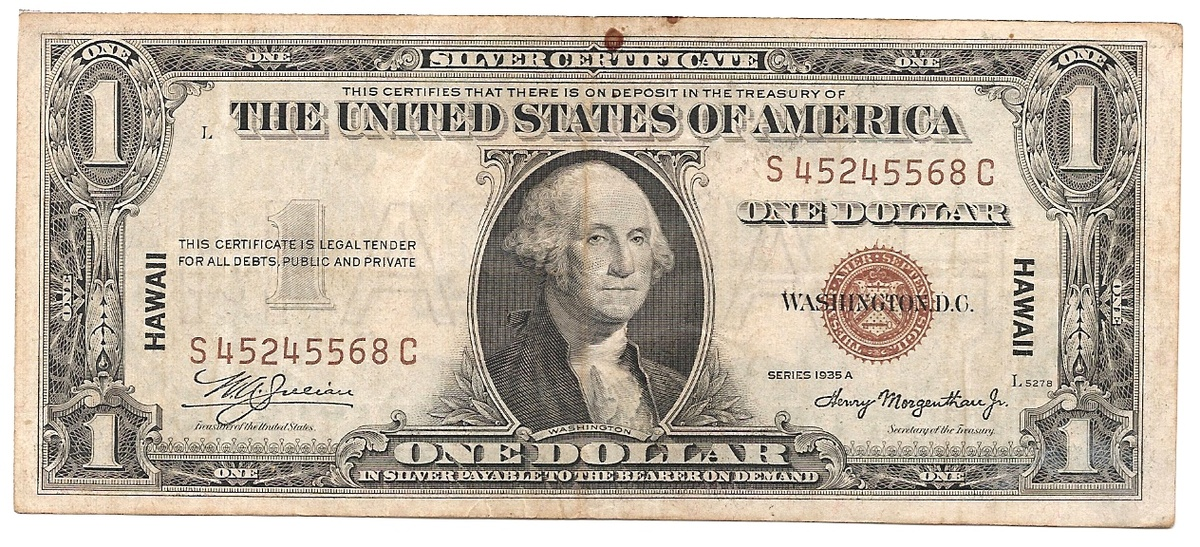 A 1935a One Dollar Bill Stamped Hawaii Collectors Weekly