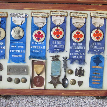Veteran's Items once belonging to Pvt. LaPoint of 81st NYV regiment.