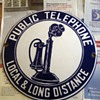 Porcelain convex phone sign