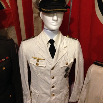 WWII German Kriegsmarine Summer white Officer Tunic