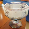 Carnival glass dish with Star of David and hebrew