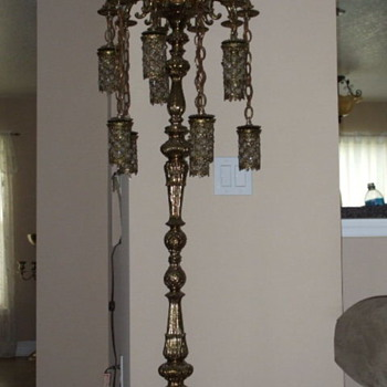Brass Chandelier Lamp