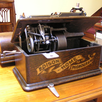 Edison Home model B with shaver and morning glory horn