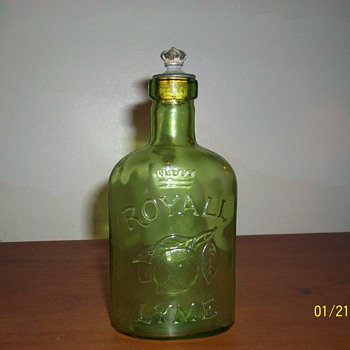 Old Crown Royall Lyme bottle