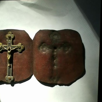 Great uncle Harold's crucifix in leather flap