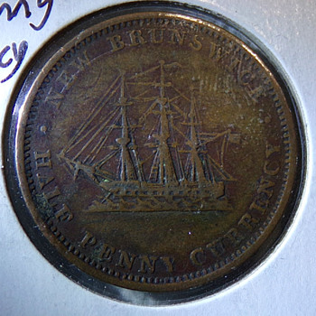 1854 New Brunswick Token