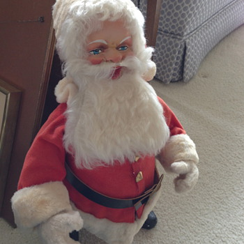 Very Old Santa Wind up Bobble Head? - Christmas